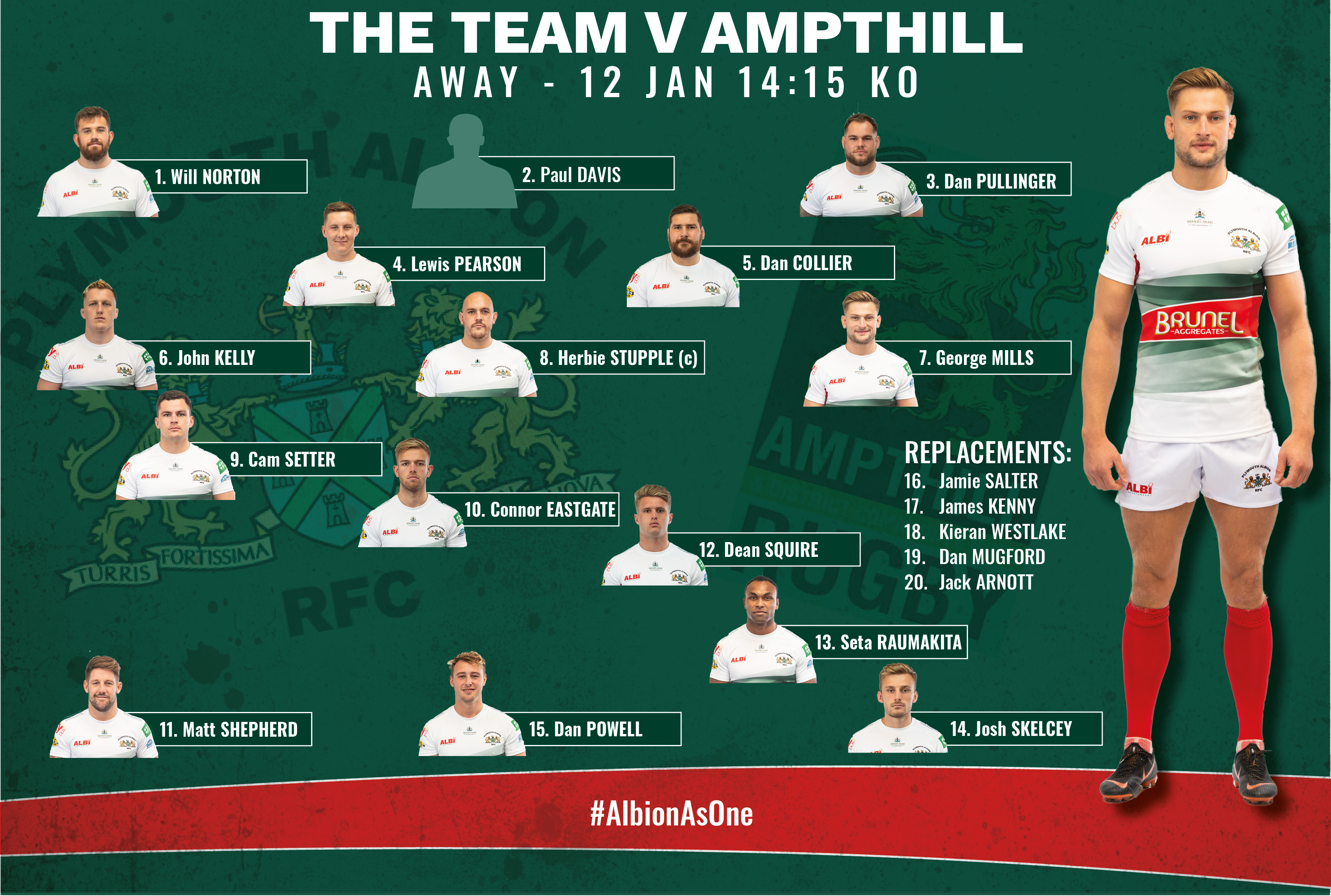 The Team vs Ampthill - Plymouth Albion RFC
